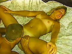 Couple Makes Love In Bed And He Pulls Out To Cum On Her Tummy