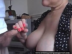British Housewife Takes Huge Oral Cream Pie