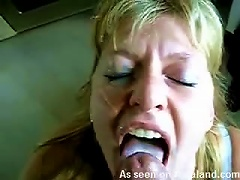 Lovely Blond  Diane Gets A Massive Facial